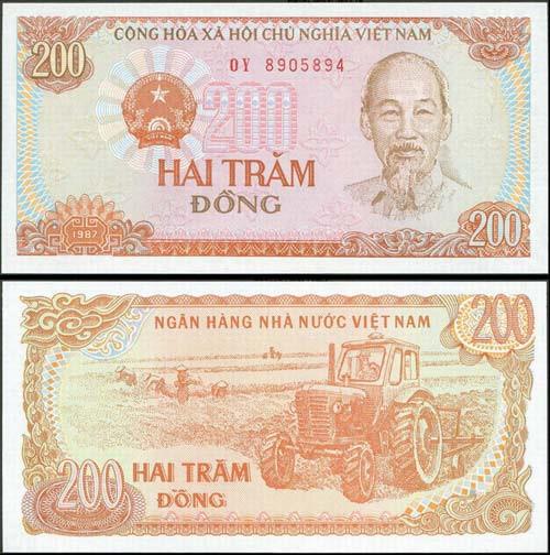 đổi tiền mới 200 đồng